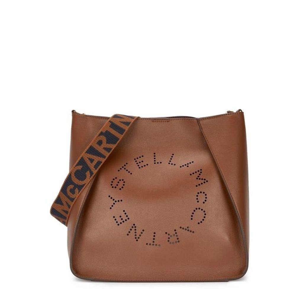 Stella McCartney Stella Logo Medium Faux-leather Cross-body Bag