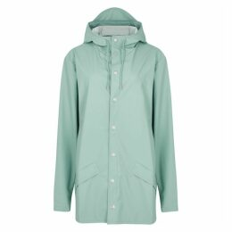 Rains Mint Rubberised Raincoat