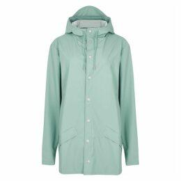 Rains Mint Rubberised Raincoat