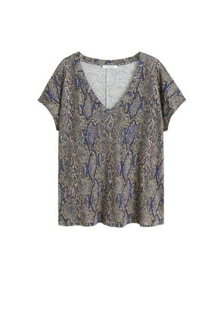 Snake linen t-shirt
