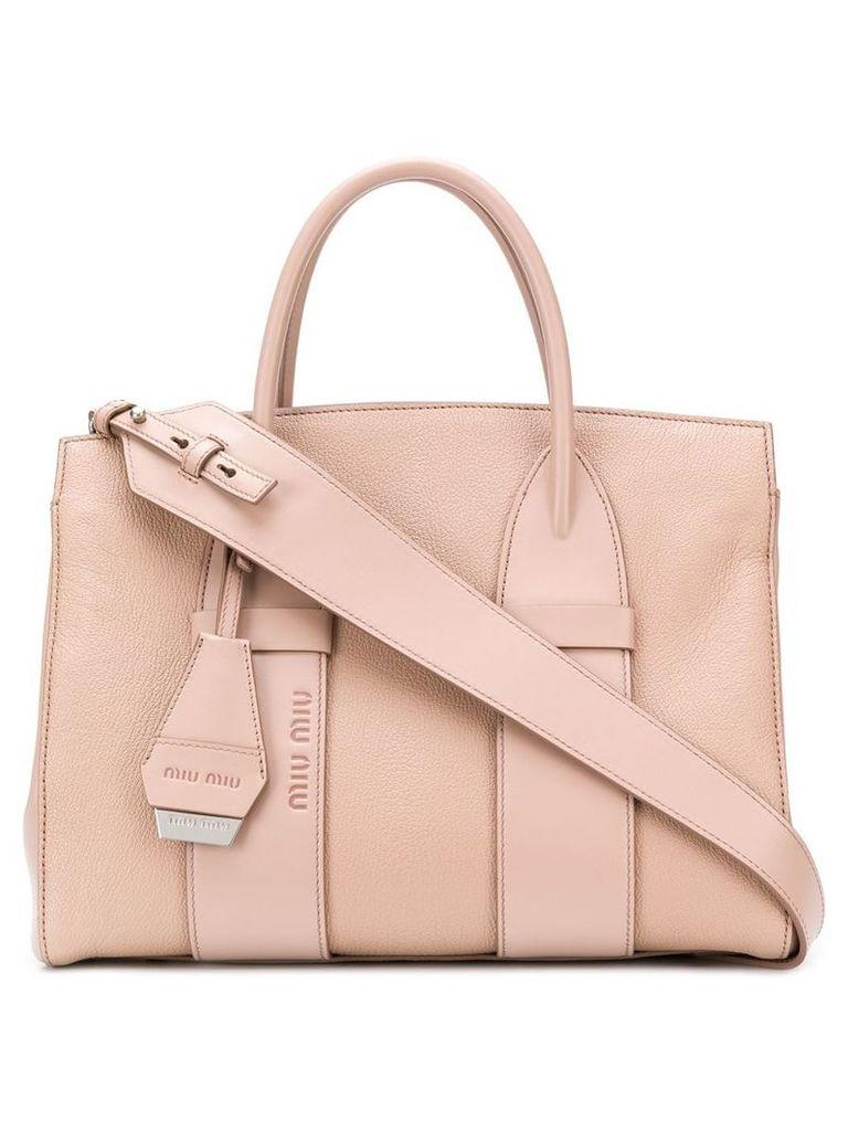 Miu Miu top-handle logo tote - Pink
