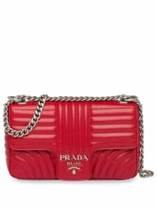Prada Prada Diagramme shoulder bag - Red