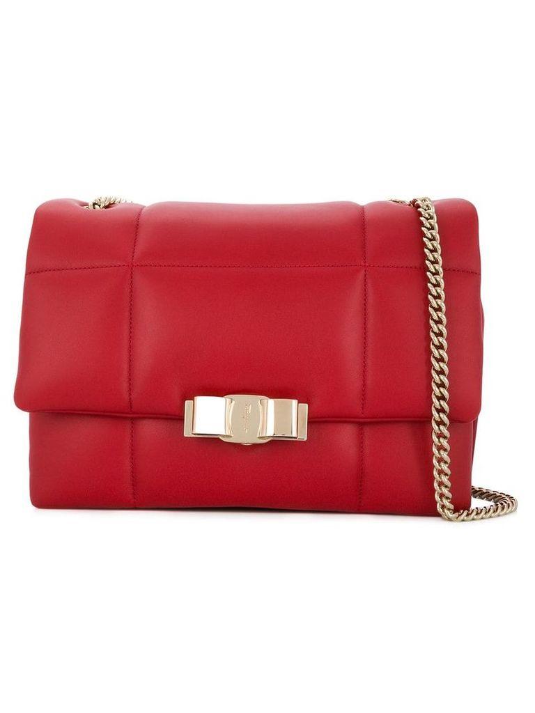 Salvatore Ferragamo quilted shoulder bag - Red