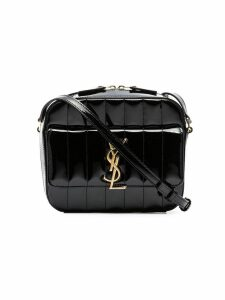 Saint Laurent black Vicky patent leather cross body bag