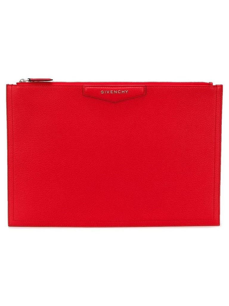 Givenchy geometric clutch - Red