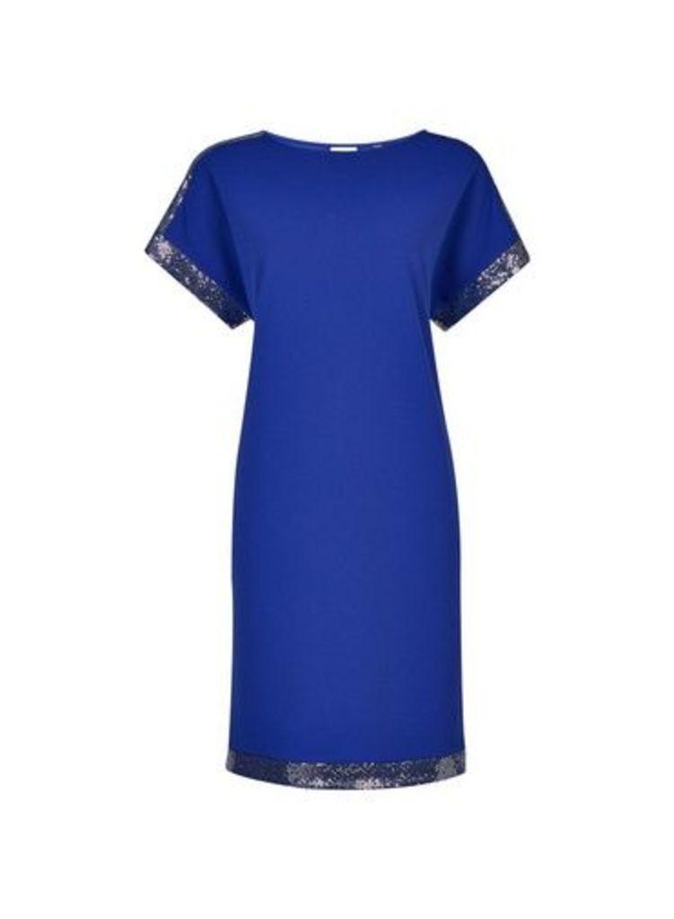 Womens **Tall Cobalt Embellished Shift Dress- Cobalt, Cobalt