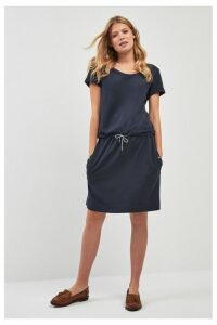 Womens Barbour Navy Baymouth Dress -  Blue