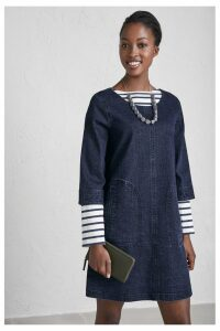 Womens Seasalt Blue Redinnick Dress Dark Wash -  Blue