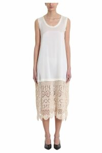 Jil Sander Ivory Crochet Viscose Dress
