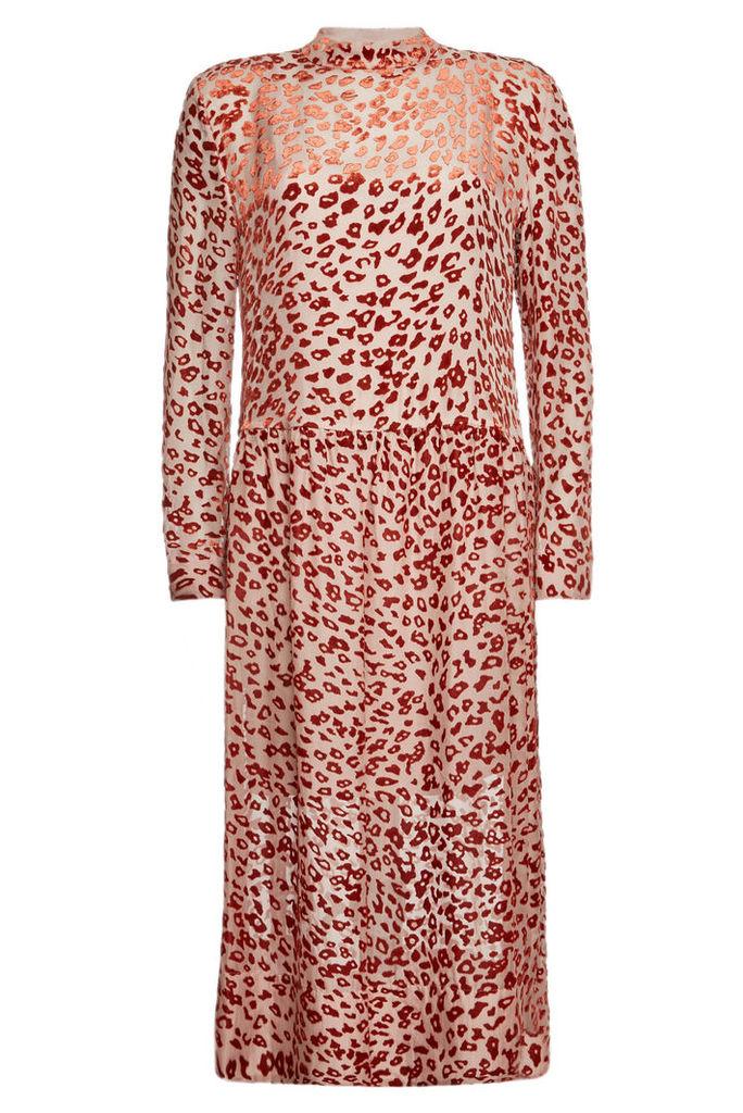 Rag & Bone Gia Animal Print Dress with Silk