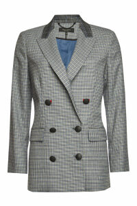 Rag & Bone Ellie Checked Blazer with Wool