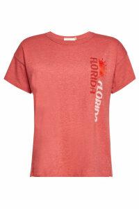 Rag & Bone/JEAN Florida Printed T-Shirt with Cotton