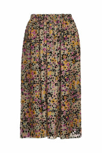 See by Chlo © Silk Burnout Velvet Midi-Skirt