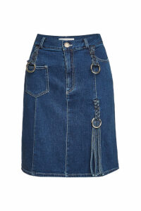 See by Chlo © Denim Skirt with Embellishment