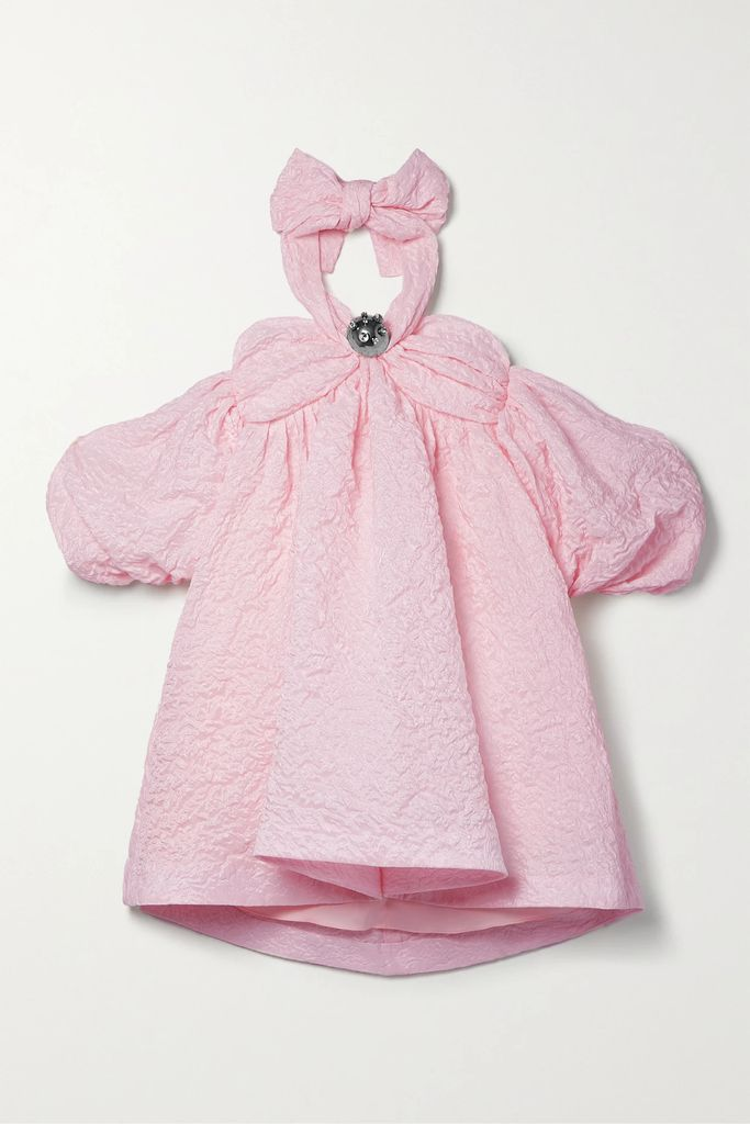SAINT LAURENT - Court Classic Leather-trimmed Logo-embroidered Distressed Canvas Sneakers - Cream
