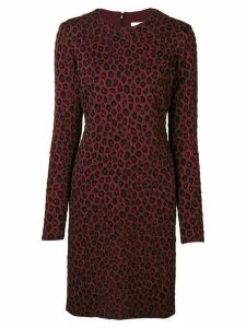 Givenchy leopard print dress - Red