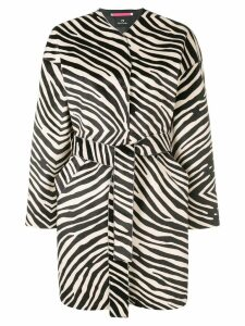 PS Paul Smith zebra printed coat - Black