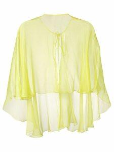 Maria Lucia Hohan Hohan cape blouse - Yellow