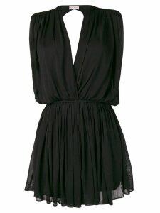 Saint Laurent draped mini dress - Black
