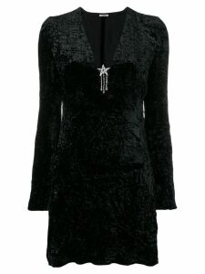 Miu Miu crystal star velvet dress - Black
