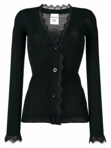 Semicouture lace trimmed cardigan - Black