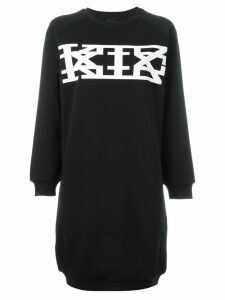 KTZ logo print sweatshirt dress - Black