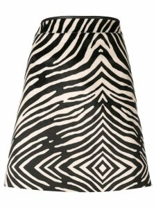 PS Paul Smith zebra printed mini skirt - Black