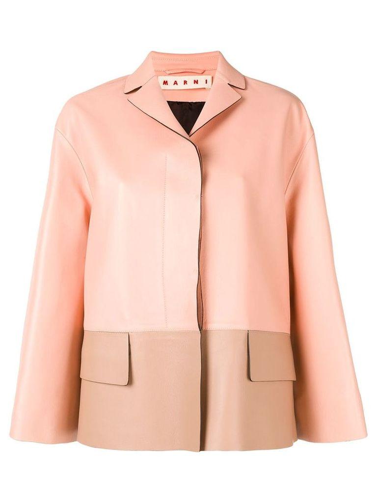Marni colour-block jacket - Pink