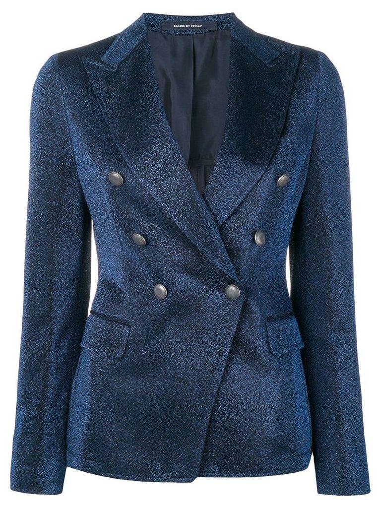 Tagliatore double-breasted blazer - Blue