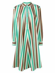 Marni striped shirt dress - Green