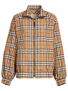Burberry vintage check Harrington jacket - Yellow