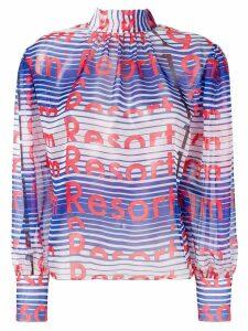 MSGM resort printed blouse - Blue