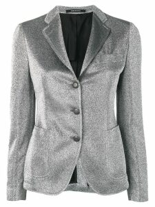 Tagliatore metallized blazer - Grey