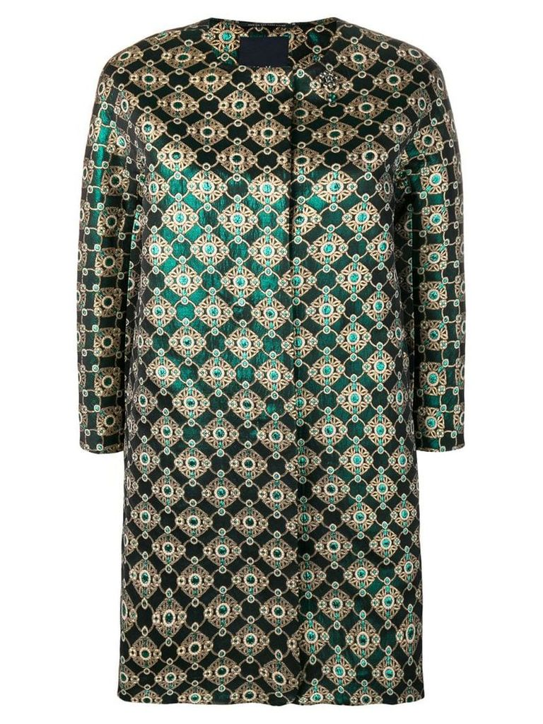 'S Max Mara printed midi coat - Green