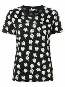 Kenzo floral print T-shirt - Black