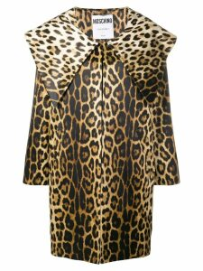 Moschino leopard print coat - Brown