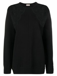 MRZ lace-panelled jumper - Black