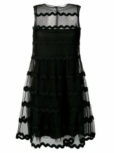 Red Valentino tulle tiered mini dress - Black