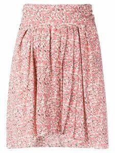 Isabel Marant floral print A-line mini skirt - Pink