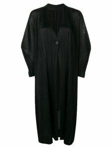 Pleats Please By Issey Miyake oversized pleated coat - Black