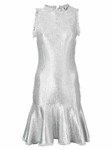 Alexander McQueen flared mini dress - Silver
