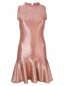 Alexander McQueen flared mini dress - Pink