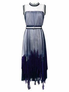 Sacai plated maxi dress - Blue