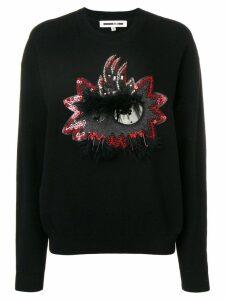 McQ Alexander McQueen embellished sweatshirt - Black