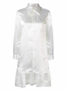 Comme Des Garçons asymmetrical tunic shirt - White