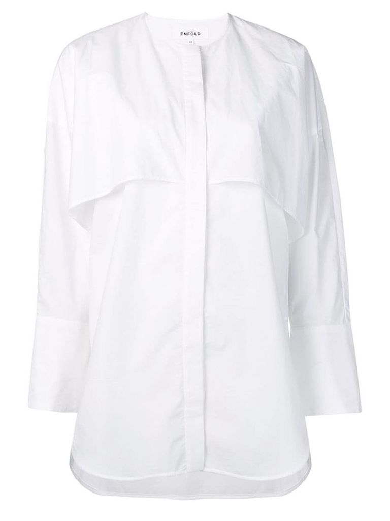 Enföld ruffle detail shirt - White