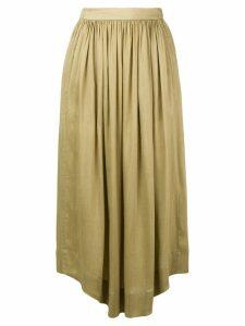 Masscob pleated front full skirt - Green