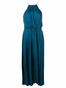 Tibi Mendini twill pleated dress - Blue