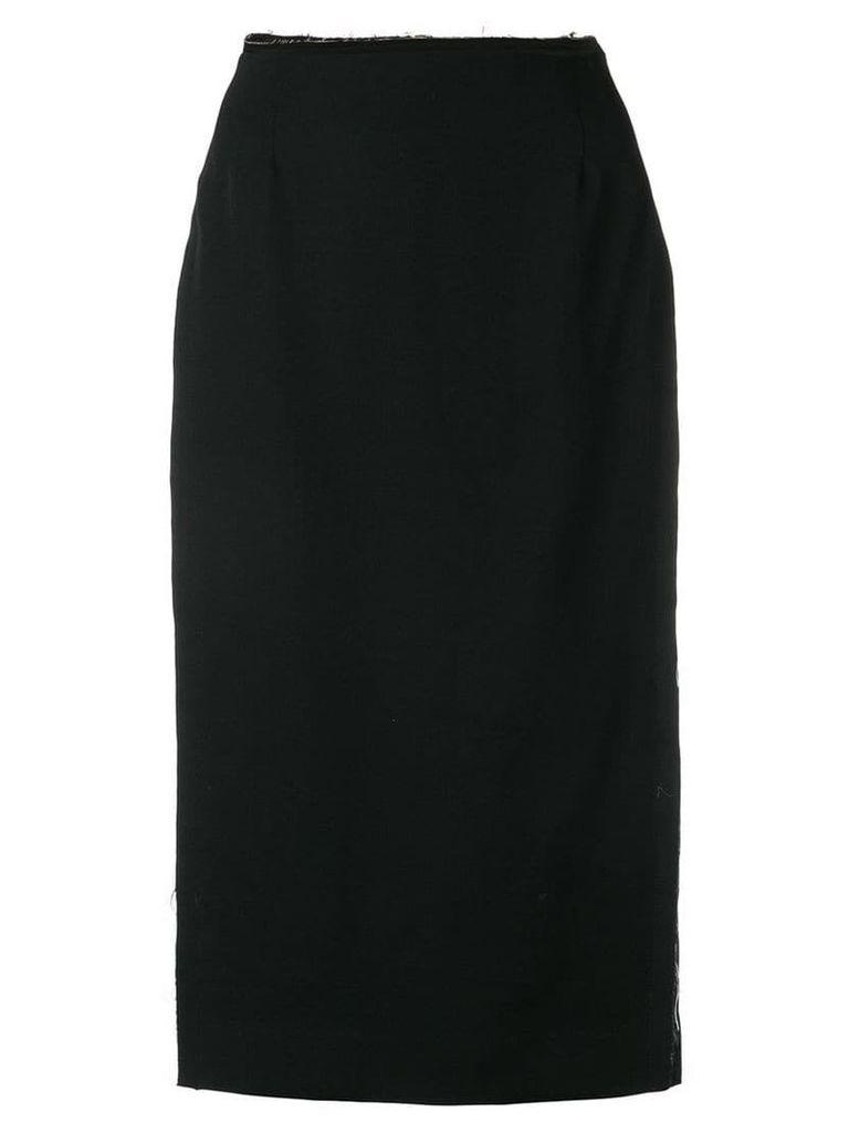 Comme Des Garçons waist high split pencil skirt - Black