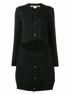 Comme Des Garçons cut out cardi-coat - Black